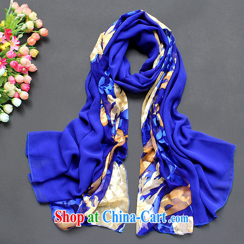2015 spring and summer, emulation, silk scarf beach Ms. silk scarf snow woven sunscreen extra large air-conditioned shawl scarf royal blue