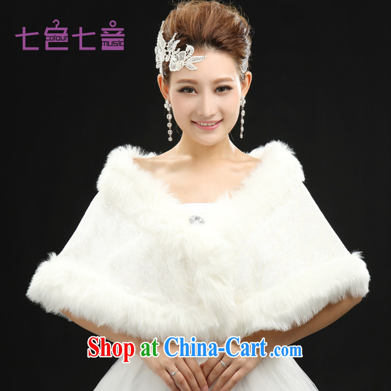 7 color 7 tone 2014 new bridal hair shawl dress shawl thick white bridal shawls wedding autumn and winter PJ 005 white are code