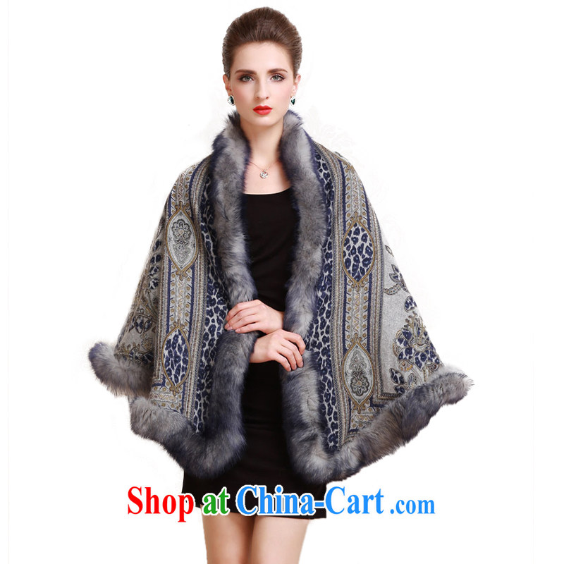 Karen's (karena) luxury cashmere shawls scarves two High wool fur the fox hair G 7011 sea mood