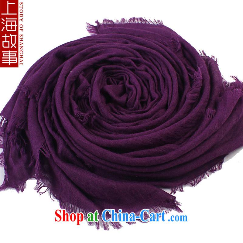 Shanghai Story artificial cotton Korean winter warm scarves, new zig-zag Solid Color scarf shawl purple