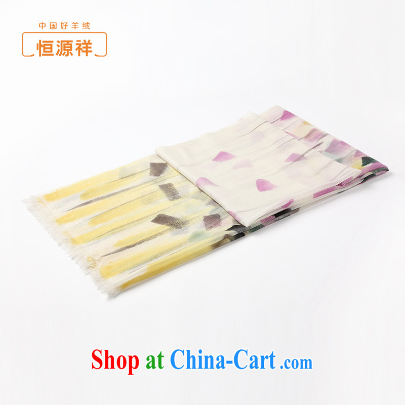 HANG SENG Yuen Cheung-shawl Women fall and winter new upscale 100% cashmere hand painted fashion shawls scarves and package of the red stamp 70 * 200