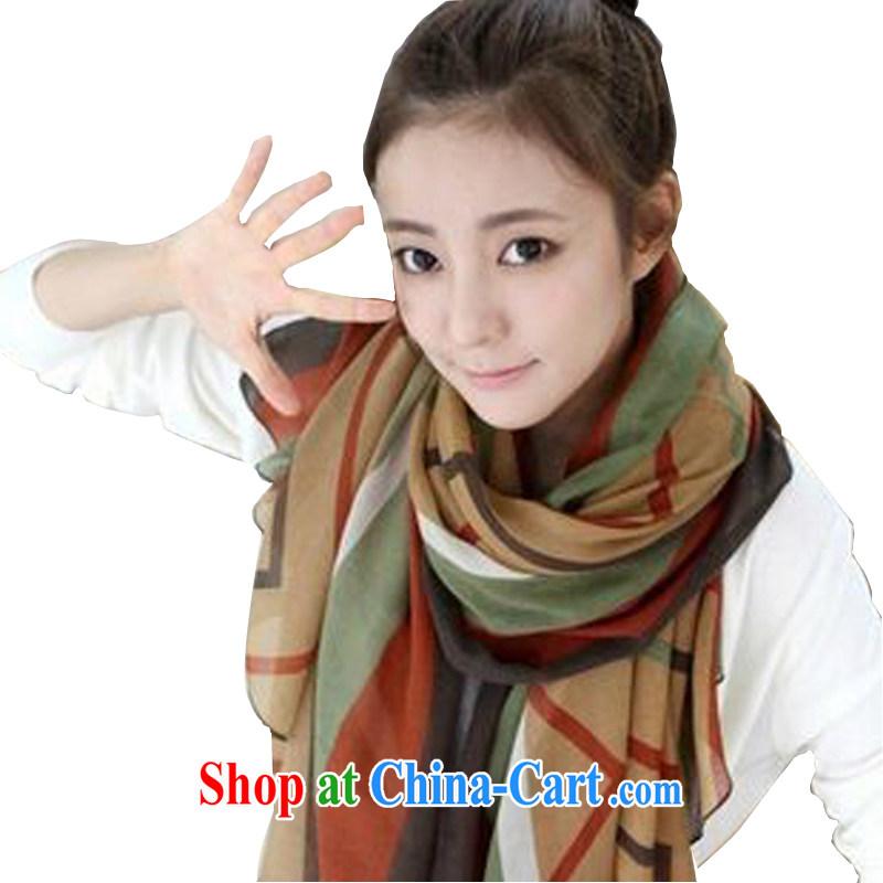 Heart waves (XHLH) 100 ground winter female silk scarf cotton Ma long, Korean Korea scarf shawl - B 001 22 a stripe card its