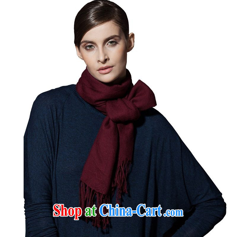I should be grateful if you would arrange early Trueher classic wool scarf scarf, Ms. autumn and winter Solid Color scarf long scarf shawl wine red 90