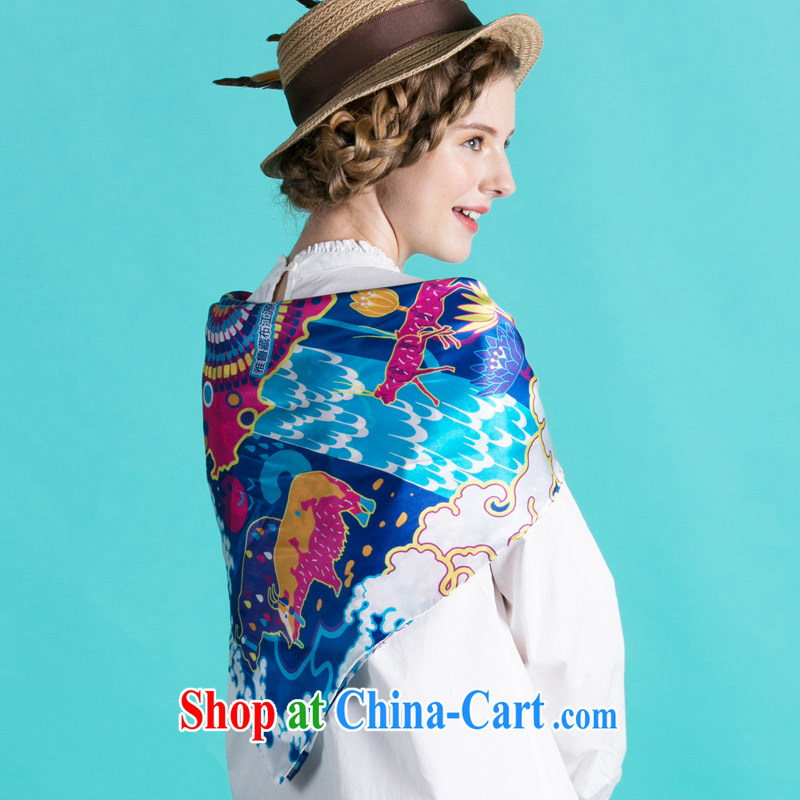 VIESCA D easy-to-wire card sauna silk silk scarf and classy new Tibet map ethnic wind animal art Gift Ideas sunscreen shawl, 2015