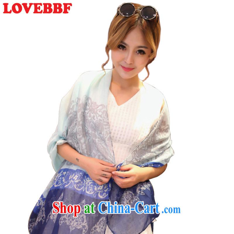 LOVEBBF spring and summer National wind scarf air-conditioning shawl long-silk scarf women silk scarf thin beach towels SJ - 03 SJ - 03 - blue sky are code
