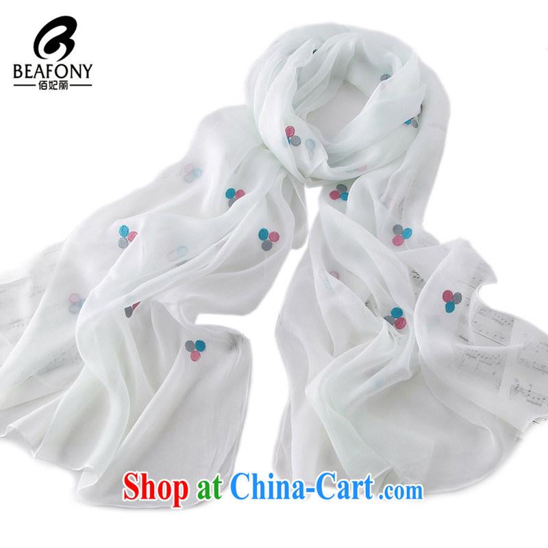 Bai princess, 4 quarter, little embroidered stylish 100 ground fine embroidery, silk scarf scarf NNY - W 4025 white 190 CM * 70 CM