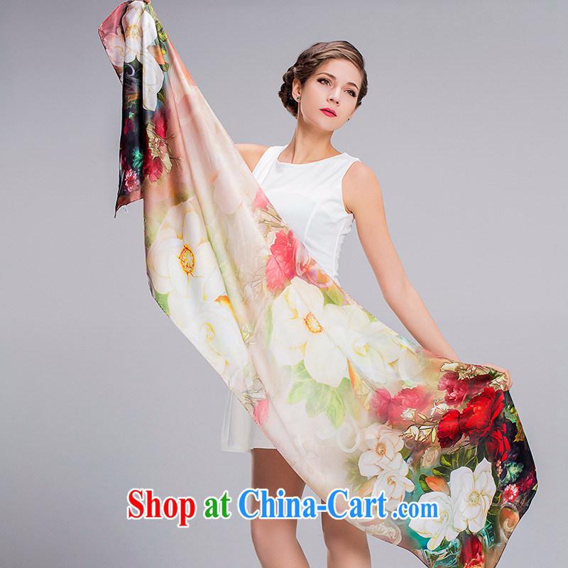 RGLT genuine spring and summer new ultra-long 100% sauna silk digital painting, pro-skin care pure silk silk scarf scarf flowers still