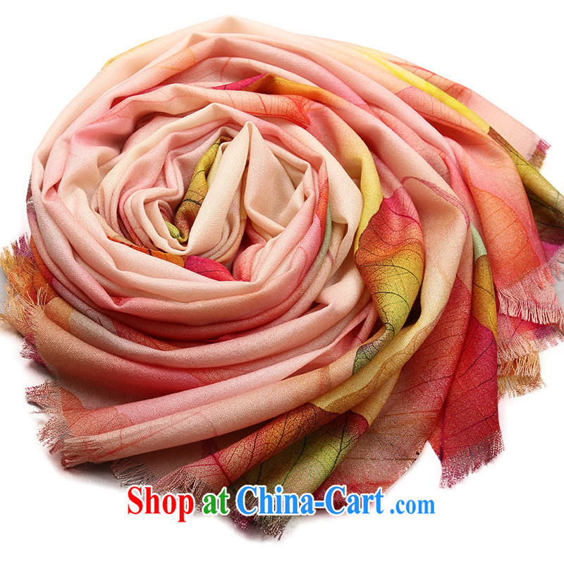Shanghai Story scarves shawls female spring pure wool poster stamp for a leaf know autumn Cornhusk yellow