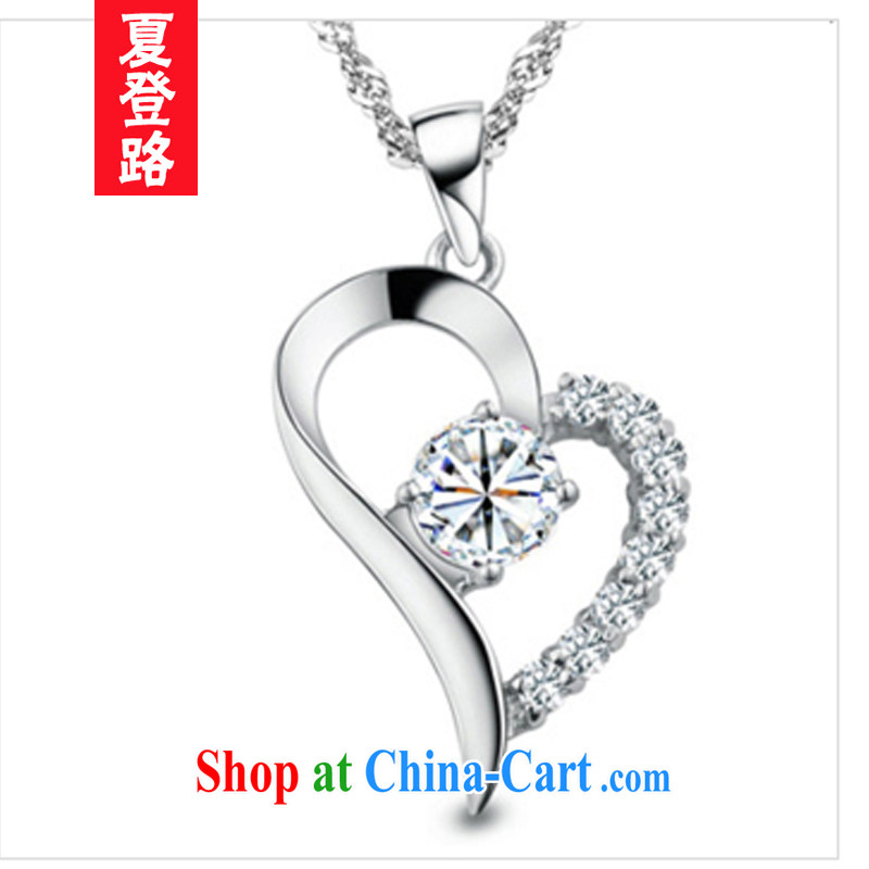 Mr Ronald ARCULLI log-neck female Korean heart-shaped short crystal pendants home decorations collarbone necklace Valentine's Day Gift gift 925 silver