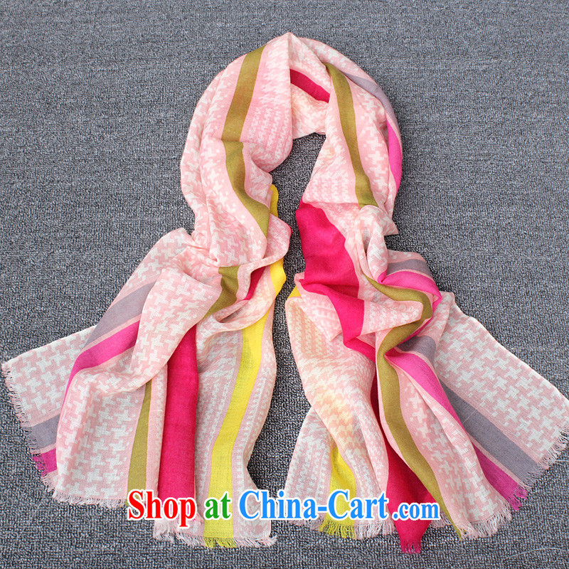 New Korean edition fall/winter wool scarf shawl 100% pure wool scarves for women large warm shawl scarf with two Rainbow toner.