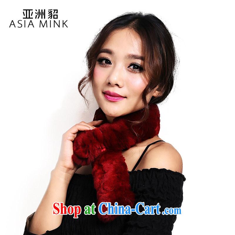 The stingrays 2014 new Korean version, Rabbit fur grass scarf girl rectangular Solid Color warm scarf flower multi-color optional female winter business commuting