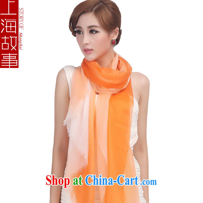 Shanghai Story 2014 pure Cashmere scarf, Spring and Autumn and high gradient shawl orange gradient, the Shanghai Story (STORY &Shanghai), online shopping