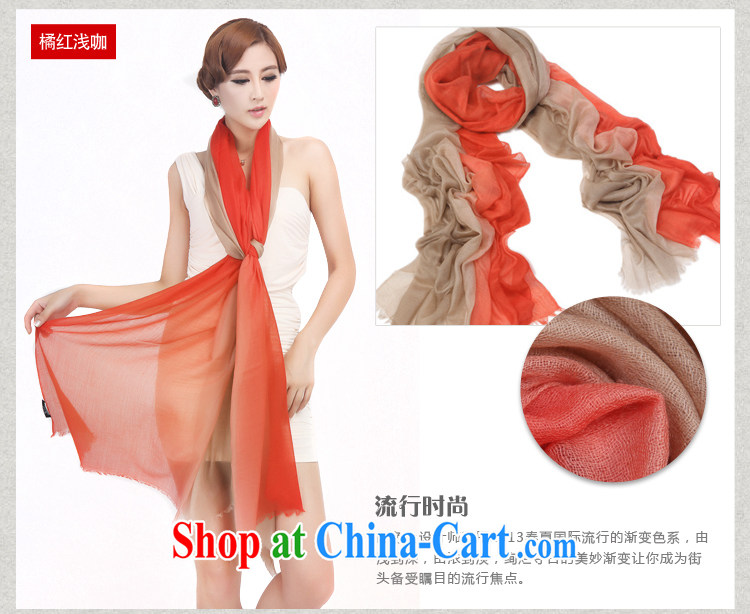 Shanghai Story 2014 pure Cashmere scarf, Spring and Autumn and high gradient shawl orange gradient image, price, brand platters! Elections are good character, the national distribution, so why buy now enjoy more preferential! Health
