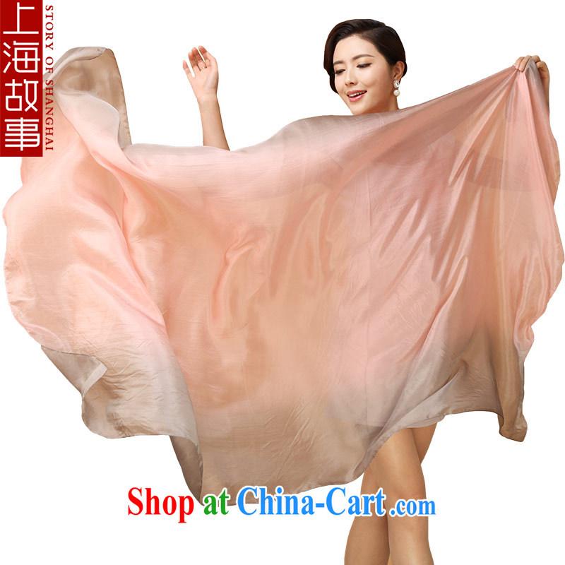 Shanghai Story gradient is silk silk scarf long sauna silk scarf winter large 100 ground shawl bare gray gradient