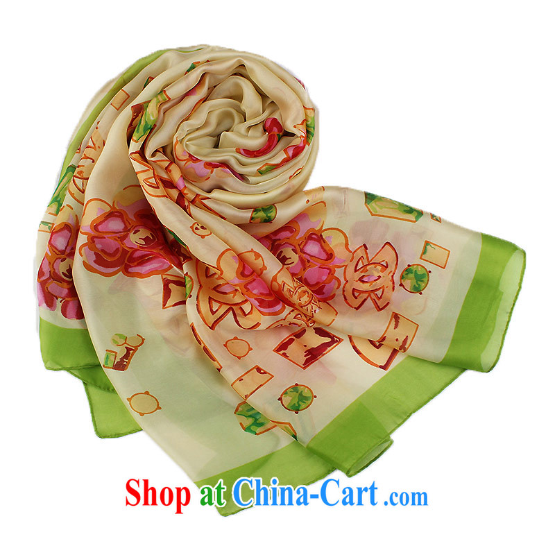 Shanghai Story silk scarf new sunscreen Air Conditioning shawl silk scarf, stunning long 100 ground scarf Yingko Yanwu such as Cornhusk yellow flowers