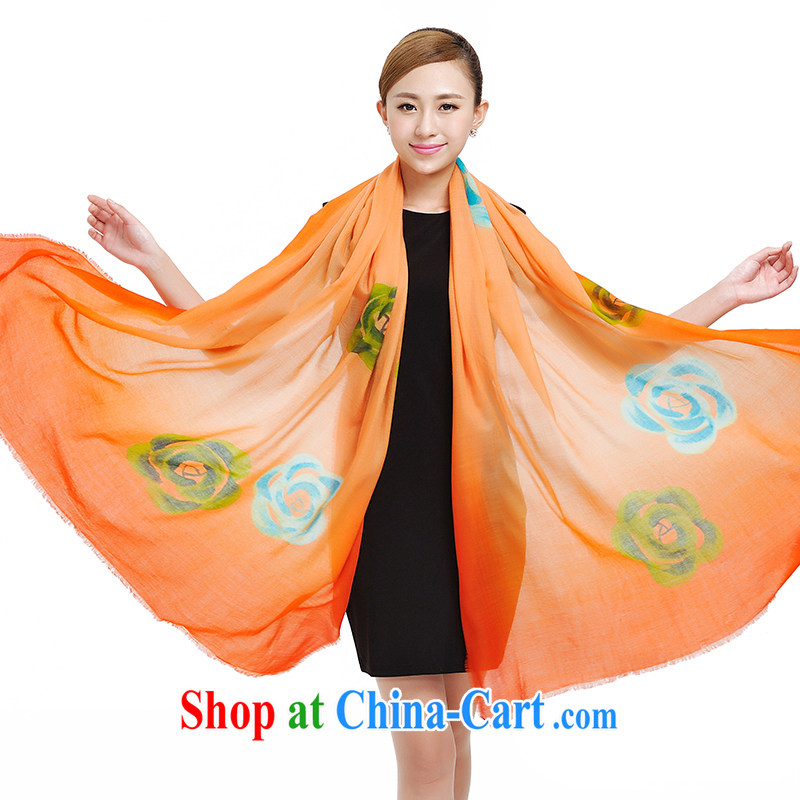 Today's story Cashmere scarf, winter new warm shawl oversize gradient high-end Cashmere scarf 177,022 orange