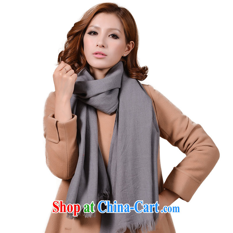 It style (Glovin) spring and summer the pure wool Solid Color Flow cats to warm the two air conditioning shawl scarf gray