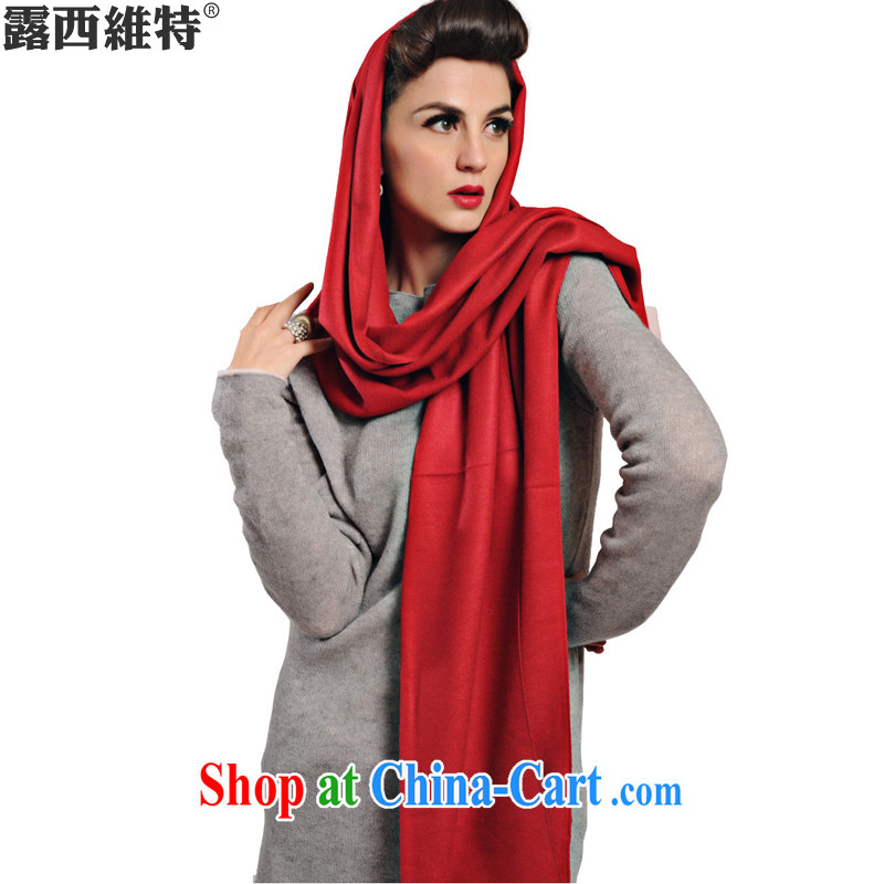 Lucie, the autumn and winter, new quality in Europe and 100 ground-Cashmere scarf warm shawl multi-color, 1317 WJ red