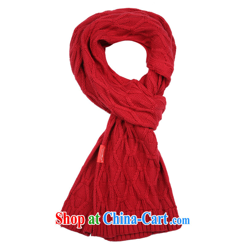 really enjoy knitting scarf autumn and winter warm twist knit Solid Color scarf female Two-sided red couples W 159 deep red