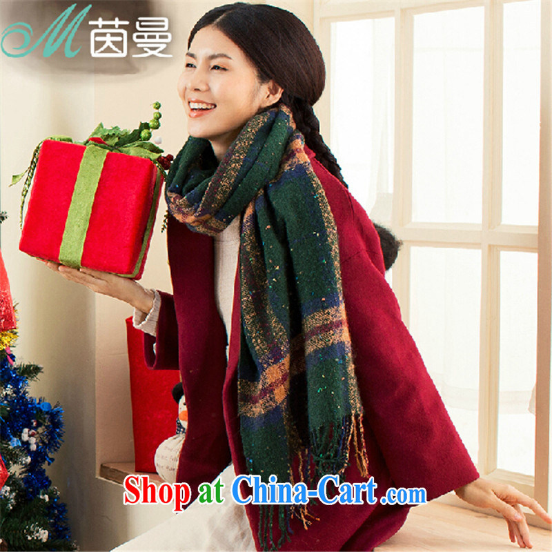Athena Cayman 2015 new autumn and winter Knitted Scarf thick women literary scarf 100 ground shawl electoral 844140011 -- mixed