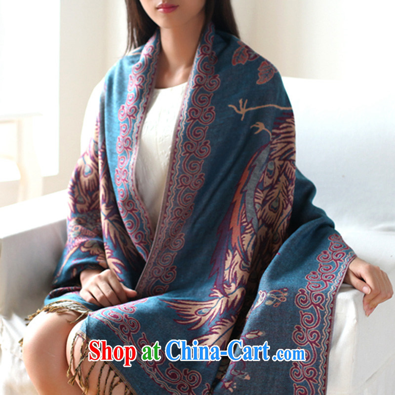 2014 fall and winter new stylish ethnic wind to take a long warm shawl scarf two birds with Song WH 389 Bird Song - Brown, antelope Good Morning, shopping on the Internet