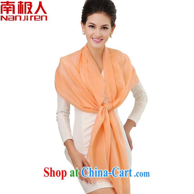 Antarctic, Extralong Korean pure wool scarf autumn and winter, shawl scarf beautiful gift boxed bare color