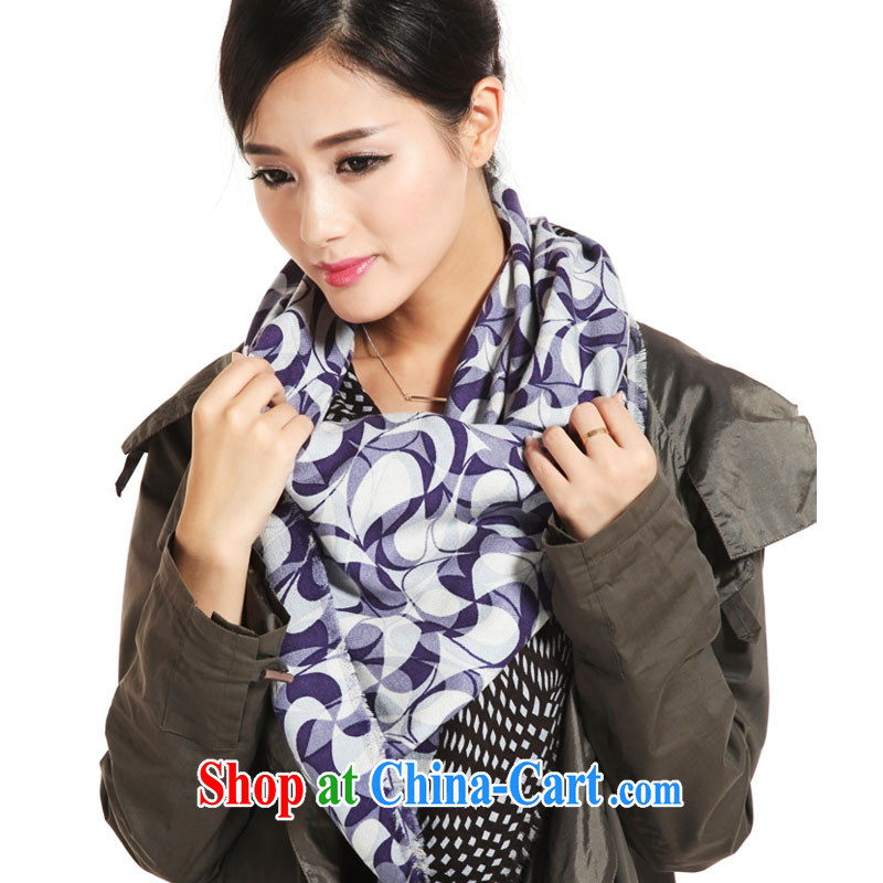 little impression, autumn and winter, new, silk wool scarf shawl long elegant and stylish lounge 100 ground Korean and classy towel female counters 18 blue