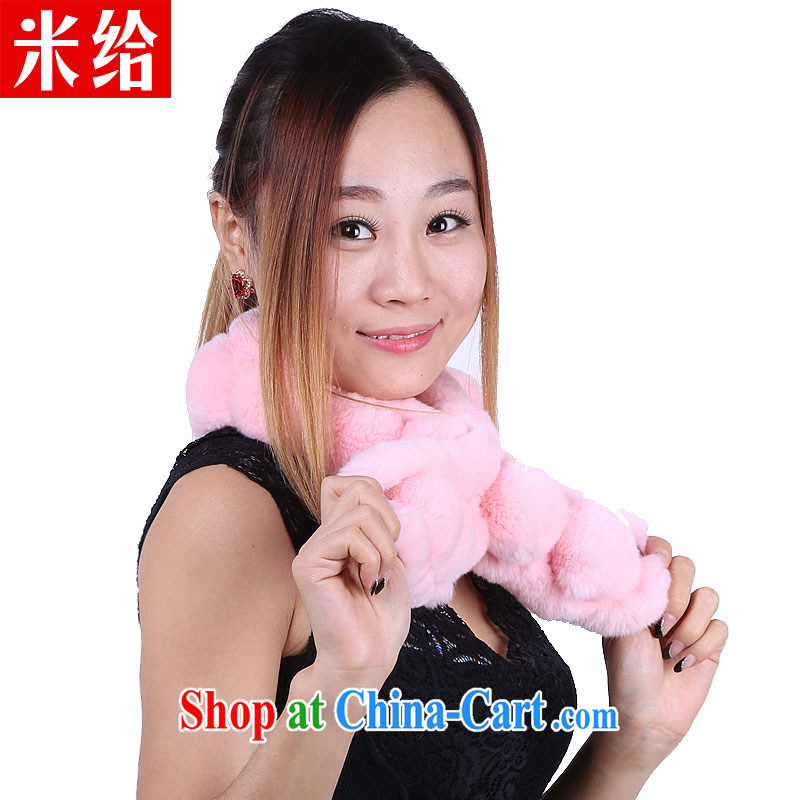 For Winter 2014 new fur scarves, rabbit hair scarf Korean fashion thick warm scarf light pink