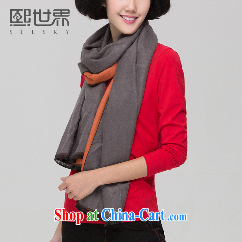 Mr Chau Tak-hay world spring 2015 winter new paragraph 100 sporting ground flow Su range towel two shawls with thick female NU 056 gray are code