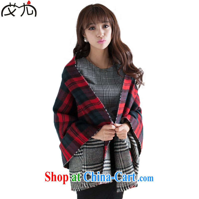 Aids in 2014 new autumn and winter the long double-sided patterned shawl scarf girl thick, warm 1000 bird, picture color