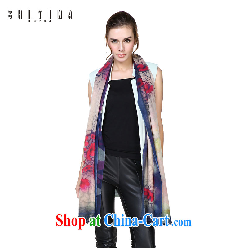 The poetry of women scarf autumn and winter 100 to 100 % pure wool shawls, Ms. long ultra-long the leisure British big flower butterfly pattern, first