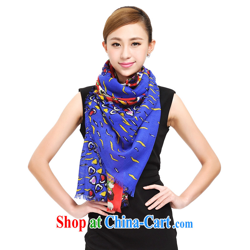 Shanghai Story pure woolen scarves women evokes the mood S 72 Australian Wool and long shawl warm thick new scarf 177,053 blue and red