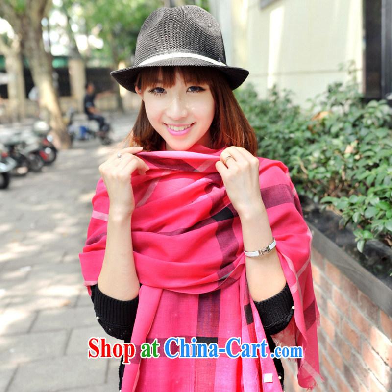 Nam-soo, bilingual L _A autumn and winter, scarves, Ms. Yau Ma Tei cotton tartan shawl in 093 PP AL