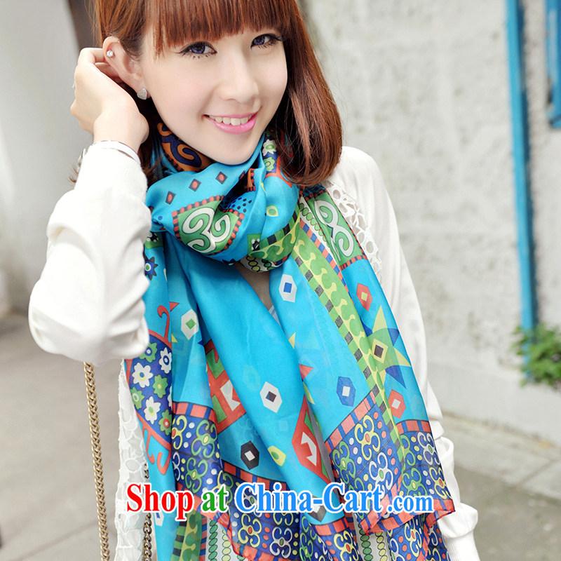 Nam-soo, bilingual L &A 2014 new autumn emulation, silk scarf, snow-woven shawl scarf PP DL 632 .