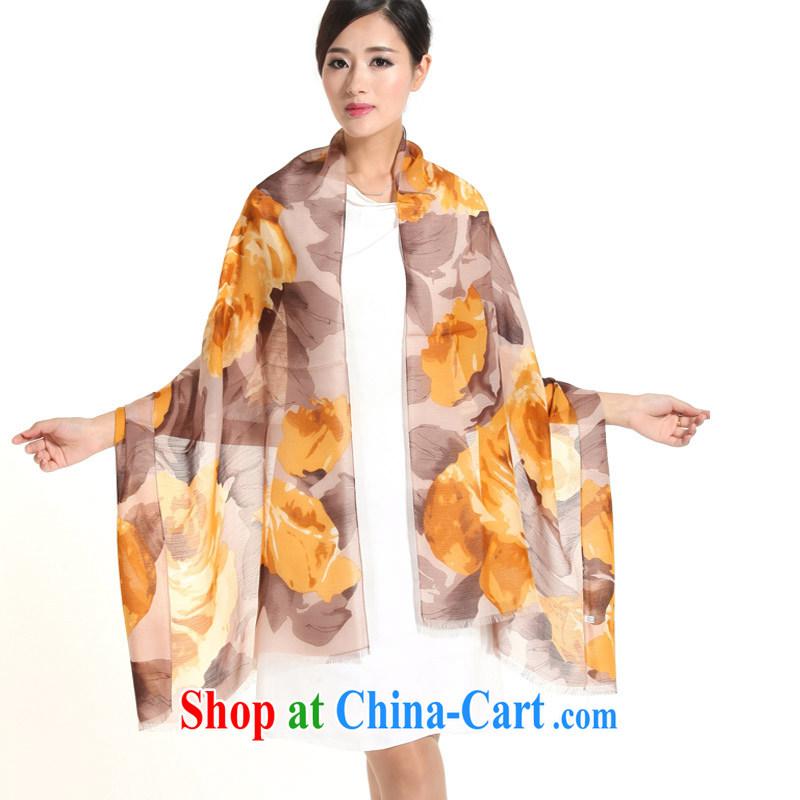 Micro-The impression winter new ladies wool scarves Korean Stamp shawl scarf sauna silk 100 a silk scarf girl brown