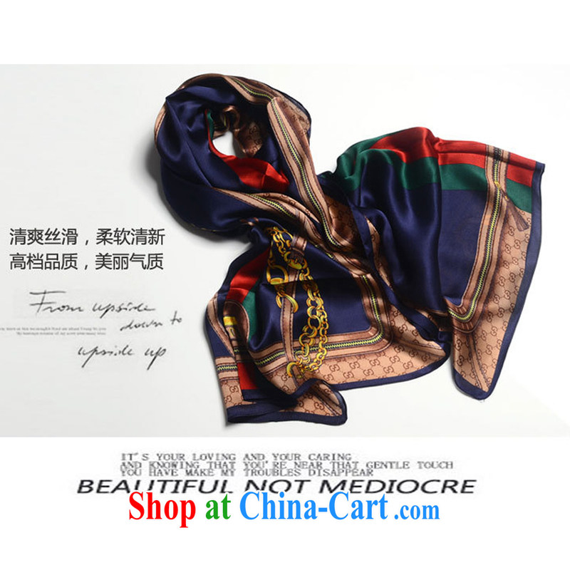 Autumn 2014 new Europe silk scarf chain long silk scarf girl Lin Zhi Ling and her scarf, Tibetan cyan