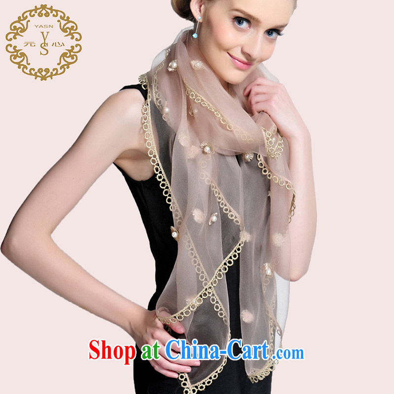 Really, the root yarn scarf Pearl silk scarf gold lace silk scarf stylish upmarket dress shawl 14 autumn and winter new and pink
