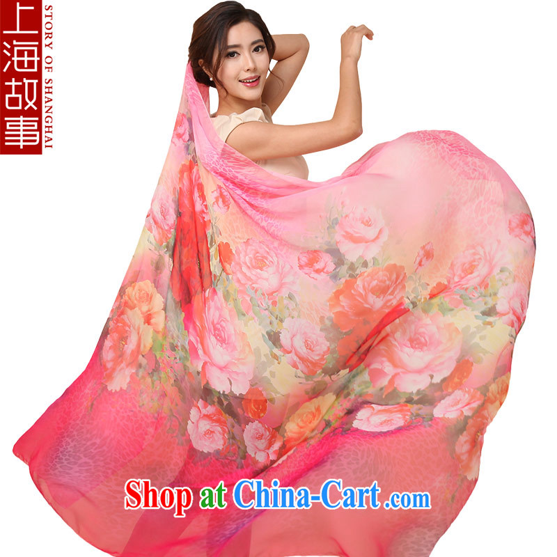 Shanghai Story scarf girl spring snow-woven silk scarf sunscreen snow woven shawl 120 * 180 air-conditioned, Ms. silk scarf light