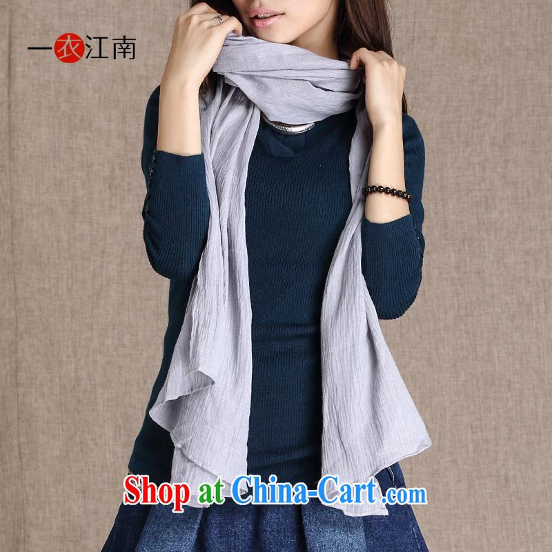 The Gangnam-gu yi 2014 winter clothing new literary long CM 175 - 230 CM shawl cotton krama A 14,126 Light Gray Light Gray