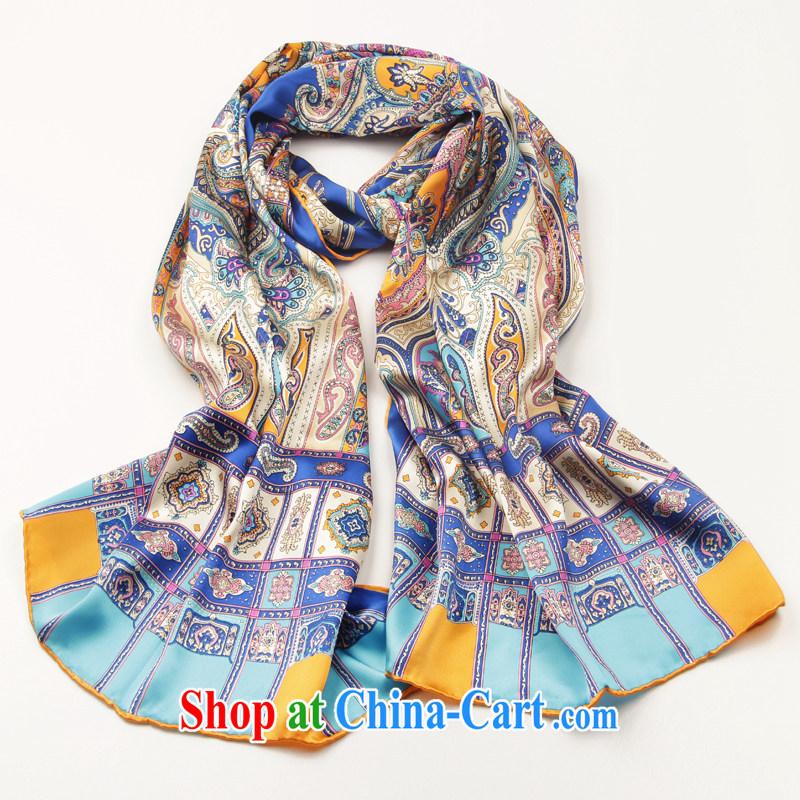 Shanghai Story 2015 new stylish sauna silk silk scarf, silk scarf silk scarves gift flowers - Blue