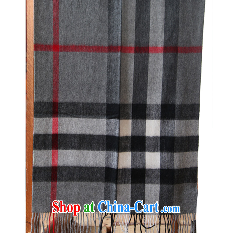 Kai, Mr. core classic thick, plaid warm pure wool scarf, air conditioning woolen shawl autumn and winter, the gray, red, 70 CM _ 180 CM