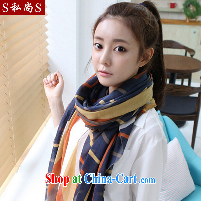 Yet the 2015 Korean winter new, warm scarves with stars, Bali yarn shawls winter scarf navy