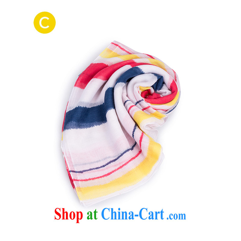 cachecache stylish and simple color stripe scarf 1.912011 billion 7 color 106
