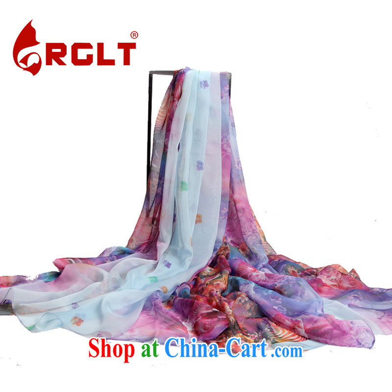Ryan, the 2015 spring and summer, spring and summer the silk smooth stylish painting flowers a large silk scarf shawl years gel fragrance - light blue