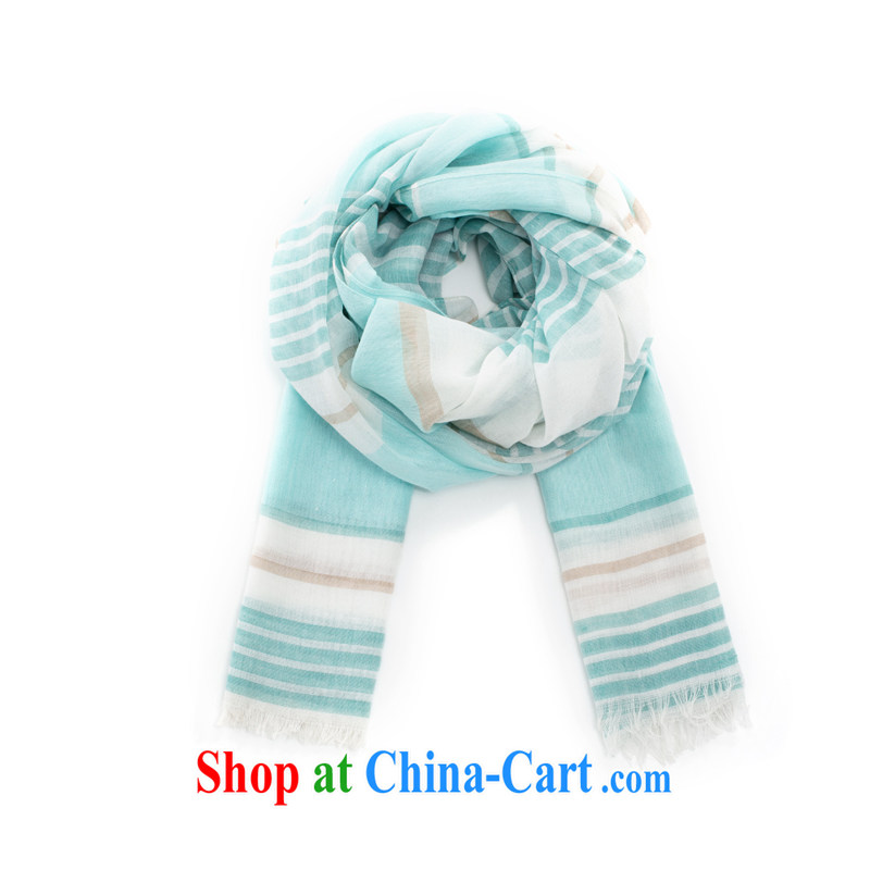 Yan, spring 2015, solid color stripes scarf girl winter thin spell color scarf arts 100 851140028 ground green
