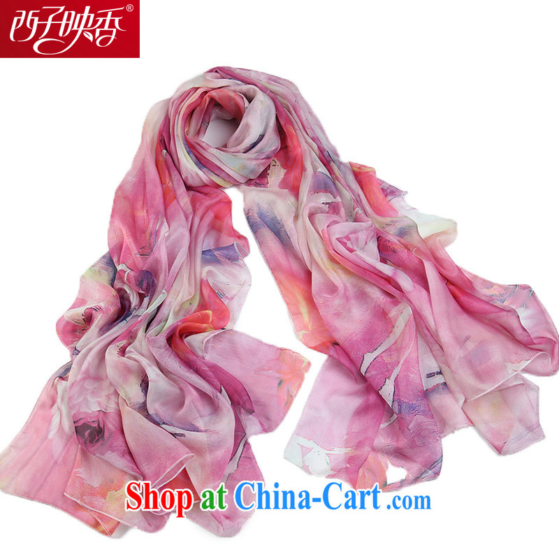 The sub-image Hong Kong spring and summer emulation silk silk scarf snow-woven sunscreen scarves shawls two ultra-long muslin square, I should be grateful if the pollen color
