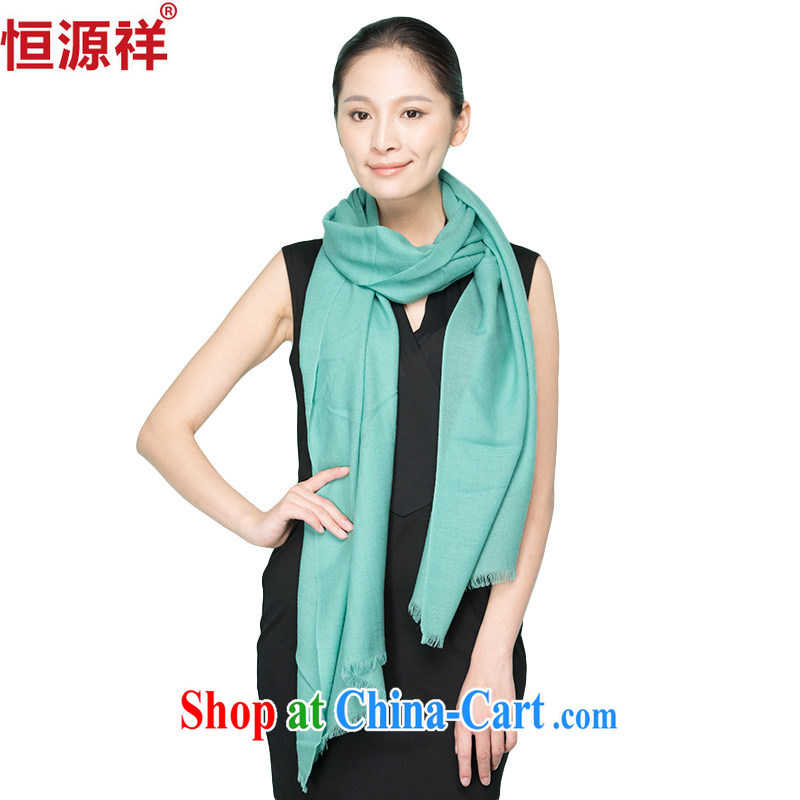 HANG SENG source Cheung, autumn and winter warm Solid Color scarf Korean girl 100 on the large woolen shawl with two 豆沙 green