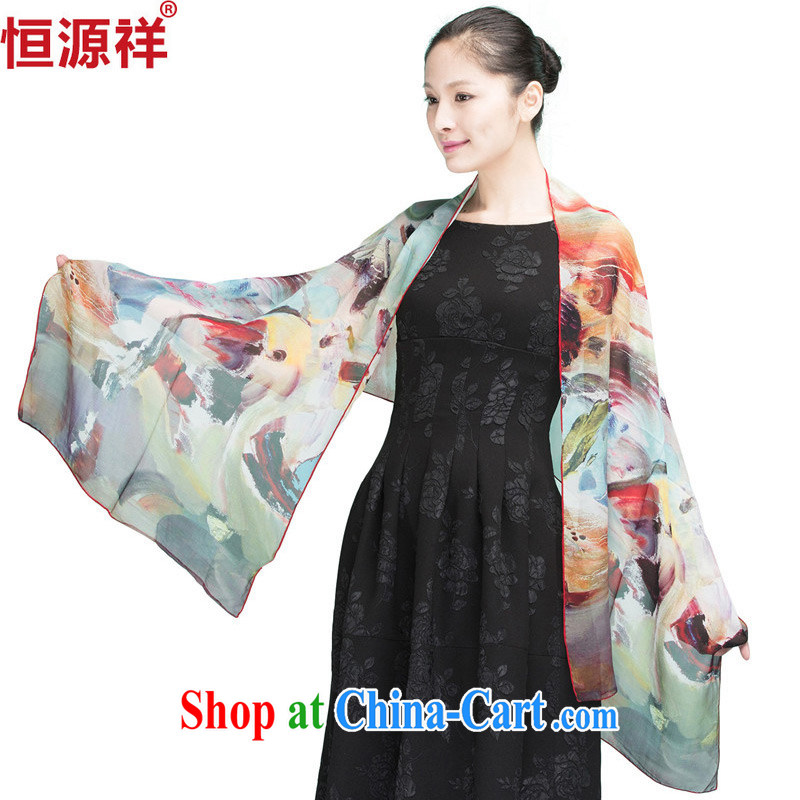 HANG SENG Yuen Cheung-New Silk silk scarf sauna silk long scarf, the sunscreen muslin square snow woven shawl 44 #