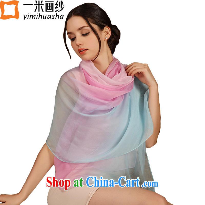 A one-meter animation by summer 2015 long sauna silk scarves new gradient, silk silk scarf large size powder blue