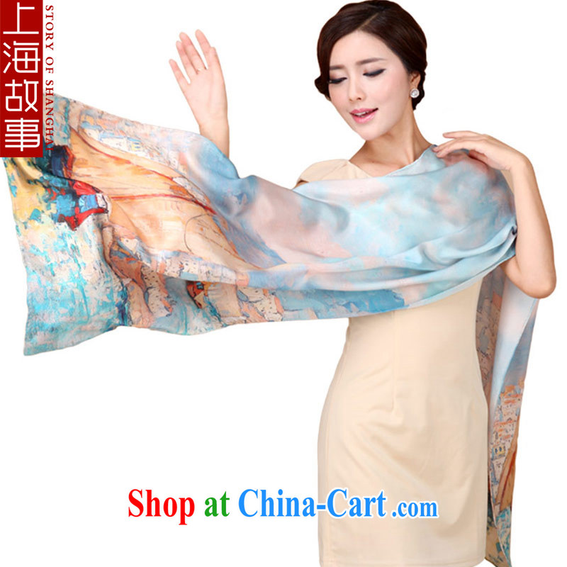Shanghai Story New Silk silk scarf dos santos Ms. silk scarf girl shawl muslin square monster stunning colorful decor